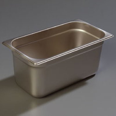 "Carlisle 607136 1/3 Size Steam Table Pan - 6"" D, Stainless"