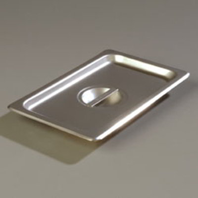 Carlisle 607140C 1/4 Size Steam Table Pan Cover - Solid, Flat, Stainless