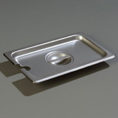 Carlisle 607140CS 1/4 Size Steam Table Pan Cover - Slotted, Flat, Stainless
