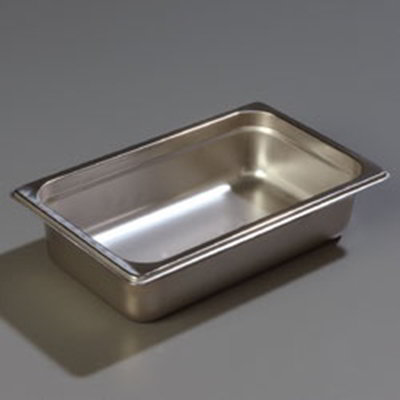 "Carlisle 607142 1/4 Size Steam Table Pan - 2-1/2"" D, Stainless"