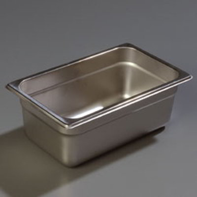 "Carlisle 607144 1/4 Size Steam Table Pan - 4"" D, Stainless"