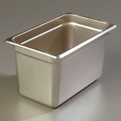 "Carlisle 607146 1/4 Size Steam Table Pan - 6"" D, Stainless"