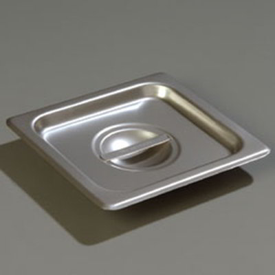 Carlisle 607160C 1/6 Size Steam Table Pan Cover - Solid, Flat, Stainless