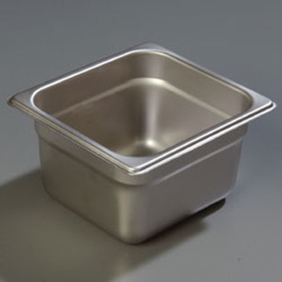 "Carlisle 607164 1/6 Size Steam Table Pan - 4"" D, Stainless"