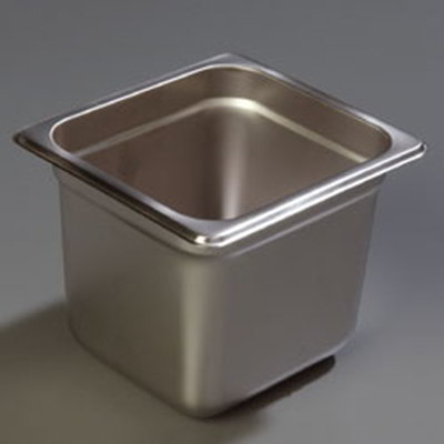 "Carlisle 607166 1/6 Size Steam Table Pan - 6"" D, Stainless"