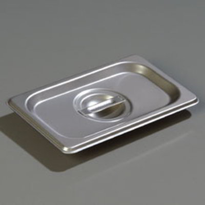 Carlisle 607190C 1/9 Size Steam Table Pan Cover - Solid, Flat, Stainless