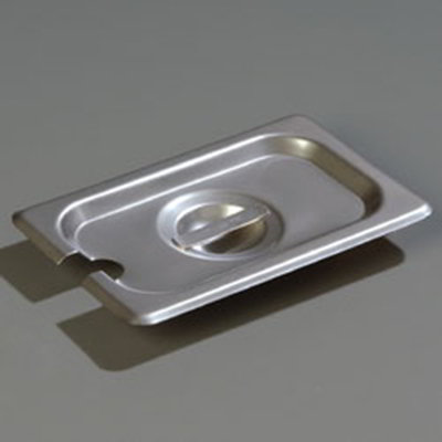 Carlisle 607190CS 1/9 Size Steam Table Pan Cover - Slotted, Flat, Stainless