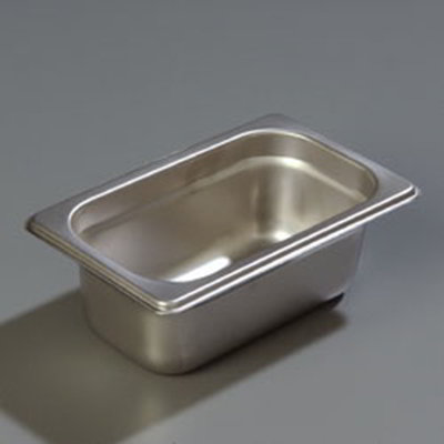"Carlisle 607192 1/9 Size Steam Table Pan - 2-1/2"" D, Stainless"
