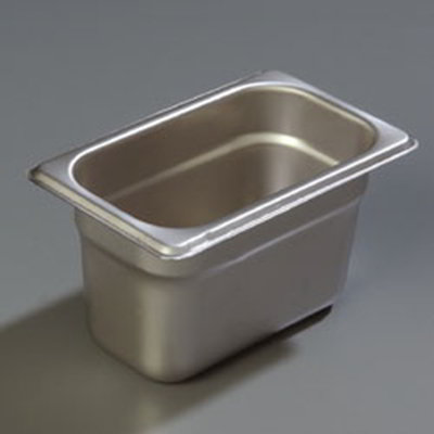 "Carlisle 607194 1/9 Size Steam Table Pan - 4"" D, Stainless"
