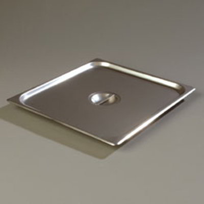Carlisle 607230C 2/3 Size Steam Table Pan Cover - Solid, Flat, Stainless