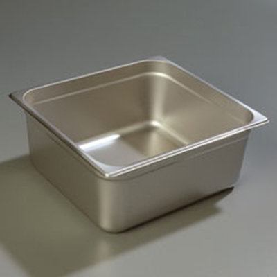 "Carlisle 607236 2/3 Size Steam Table Pan - 6"" D, Stainless"