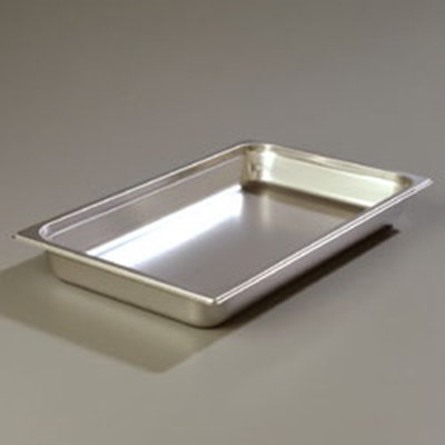 "Carlisle 608002 Full-Size Steam Table Pan - 2-1/2"" D, Stainless Steel"