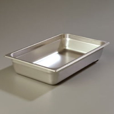 "Carlisle 608004 Full-Size Steam Table Pan - 4"" D, Stainless Steel"