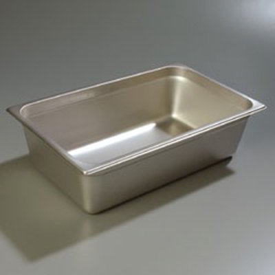 "Carlisle 608006 Full-Size Steam Table Pan - 6"" D, Stainless Steel"