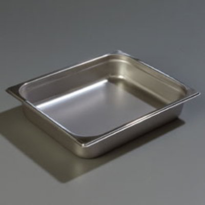 "Carlisle 608122 Half-Size Steam Table Pan - 2-1/2"" D, Stainless Steel"