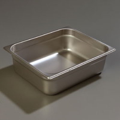 "Carlisle 608124 Half-Size Steam Table Pan - 4"" D, Stainless Steel"