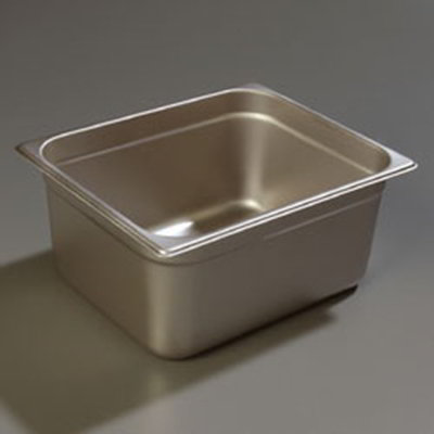 "Carlisle 608126 Half-Size Steam Table Pan - 6"" D, Stainless Steel"