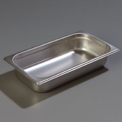 "Carlisle 608132 1/3 Size Steam Table Pan - 2-1/2"" D, Stainless Steel"