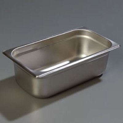 "Carlisle 608134 1/3 Size Steam Table Pan - 4"" D, Stainless Steel"