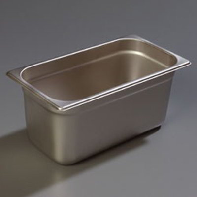 "Carlisle 608136 1/3 Size Steam Table Pan - 6"" D, Stainless Steel"
