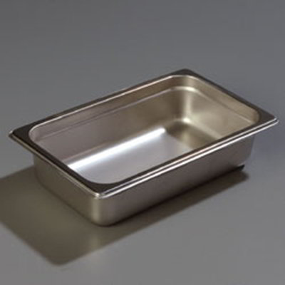 "Carlisle 608142 1/4 Size Steam Table Pan - 2-1/2"" D, Stainless Steel"
