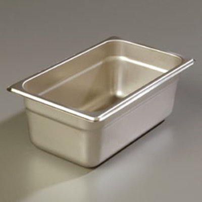 "Carlisle 608144 1/4 Size Steam Table Pan - 4"" D, Stainless Steel"