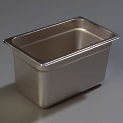 "Carlisle 608146 1/4 Size Steam Table Pan - 6"" D, Stainless Steel"