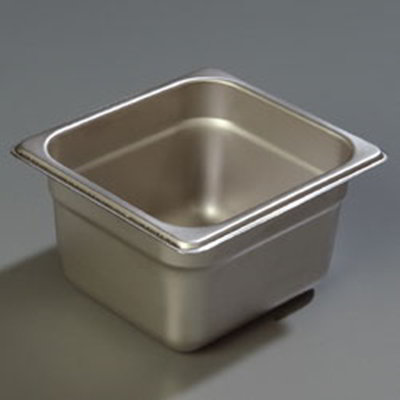 "Carlisle 608164 1/6 Size Steam Table Pan - 4"" D, Stainless Steel"
