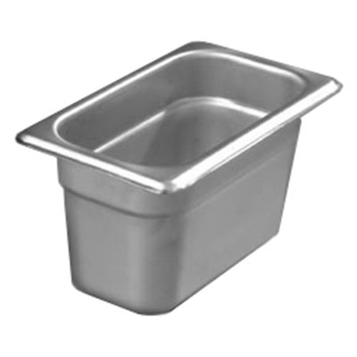 "Carlisle 608194 1/9 Size Steam Table Pan - 4"" D, Stainless Steel"