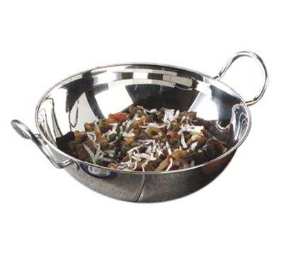 "Carlisle 609096 9-1/2"" Round Balti Dish - Stainless"