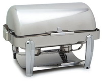 Carlisle 609721 8-qt Rectangular Chafer - Roll Top, Dripless Water Pan, Stainless