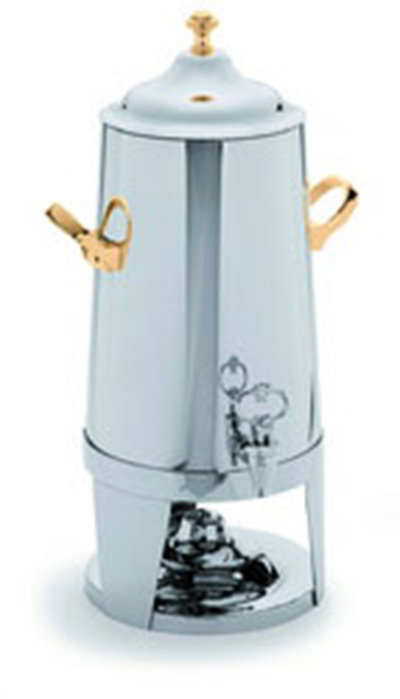 Carlisle 609801 1.5-Gallon Insulated Beverage Urn, Brass Handles