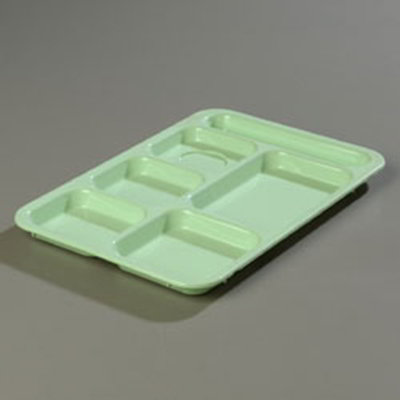 Carlisle 614R09 Rectangular (6)Compartment Tray - Right-
