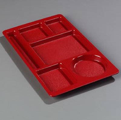 Carlisle 61505 Rectangular (6)Compartment Tray - Lef