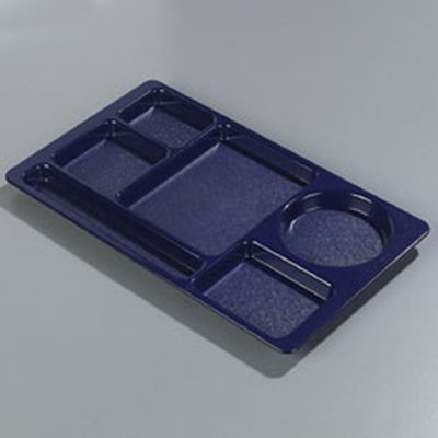Carlisle 61514 Rectangular (6)Compartment Tray - Left-Handed,