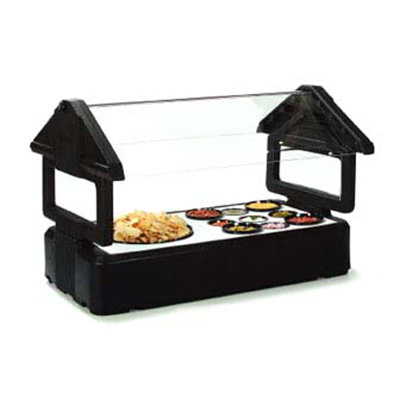 Carlisle 660003 Table Top Food Bar - (3)Full-Size Pan Capacity, Polyethylene, Black