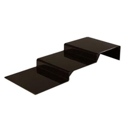 "Carlisle 684303 11-3/4"" Display Riser - 3-Step, Polycarbonate, Black"