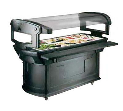 Carlisle 771159 Maximizer Food Bar - (6)Full-Size Pan Capacity, Polyethylene, Slate
