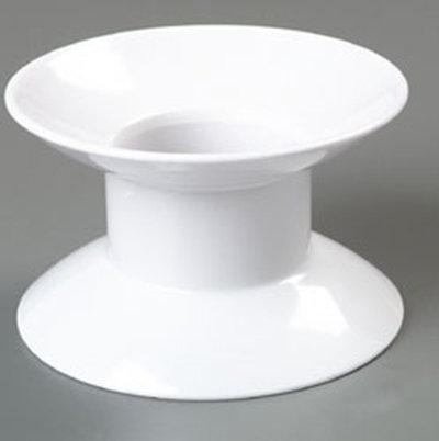 """Carlisle 790102 4"""" Palette Designer Plate Stand - Melamine, White"""