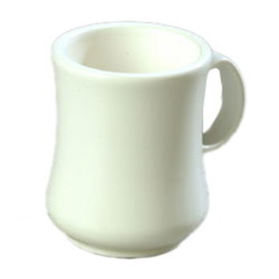 Carlisle 800402 8-oz Diablo Coffee Mug - White