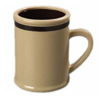Carlisle 850519 8-oz Rustic Coffee Mug - Stone/Dark Brown