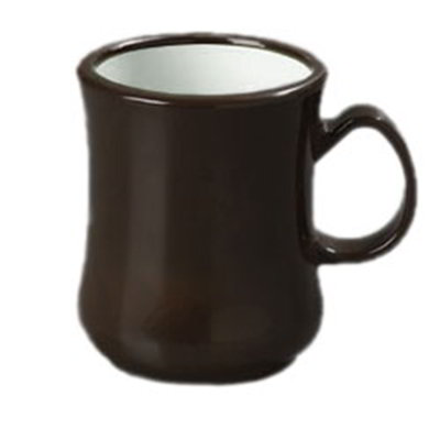 Carlisle 800401 8-oz Diablo Coffee Mug - Brown/White