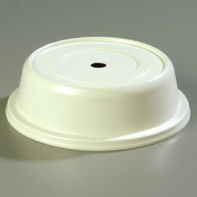 "Carlisle 91020202 8-3/4"" to 9-1/8"" Plate Cover - Polyglass, Bone"