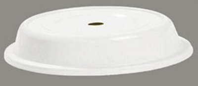 "Carlisle 91095202 12"" to 12-1/4"" Plate Cover - Polyglass, Bone"