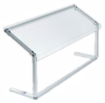 "Carlisle 916007 60"" Portable Sneeze Guard - Free-Standing, Acrylic/Aluminum, Clear"
