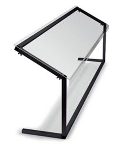 "Carlisle 917203 73-3/8"" Portable Sneeze Guard - Free-Standing, Acrylic/Aluminum, Black"