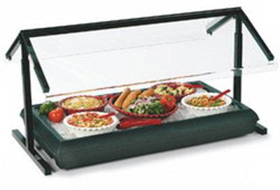"Carlisle 972203 73-5/8"" Portable Sneeze Guard - Adjustable Double-Sided, Acrylic/Alumin"