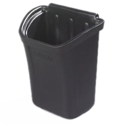 "Carlisle CC11TH03 Trash Bin - 12-1/4x18x22"" Polyethylene, Black"