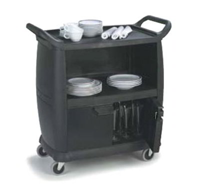Carlisle CC2036DP03 Bus Cart - 300-lb Capacity, 3-Shelves, Locking
