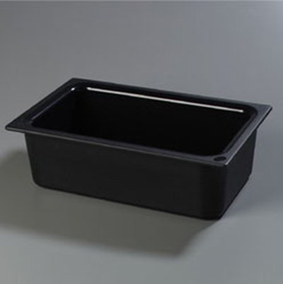 "Carlisle CM110003 Coldmaster Full Size Food Pan - 6""D, Black"